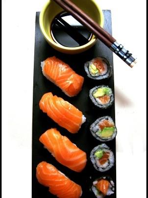 Confection de Maki, california maki et sushi