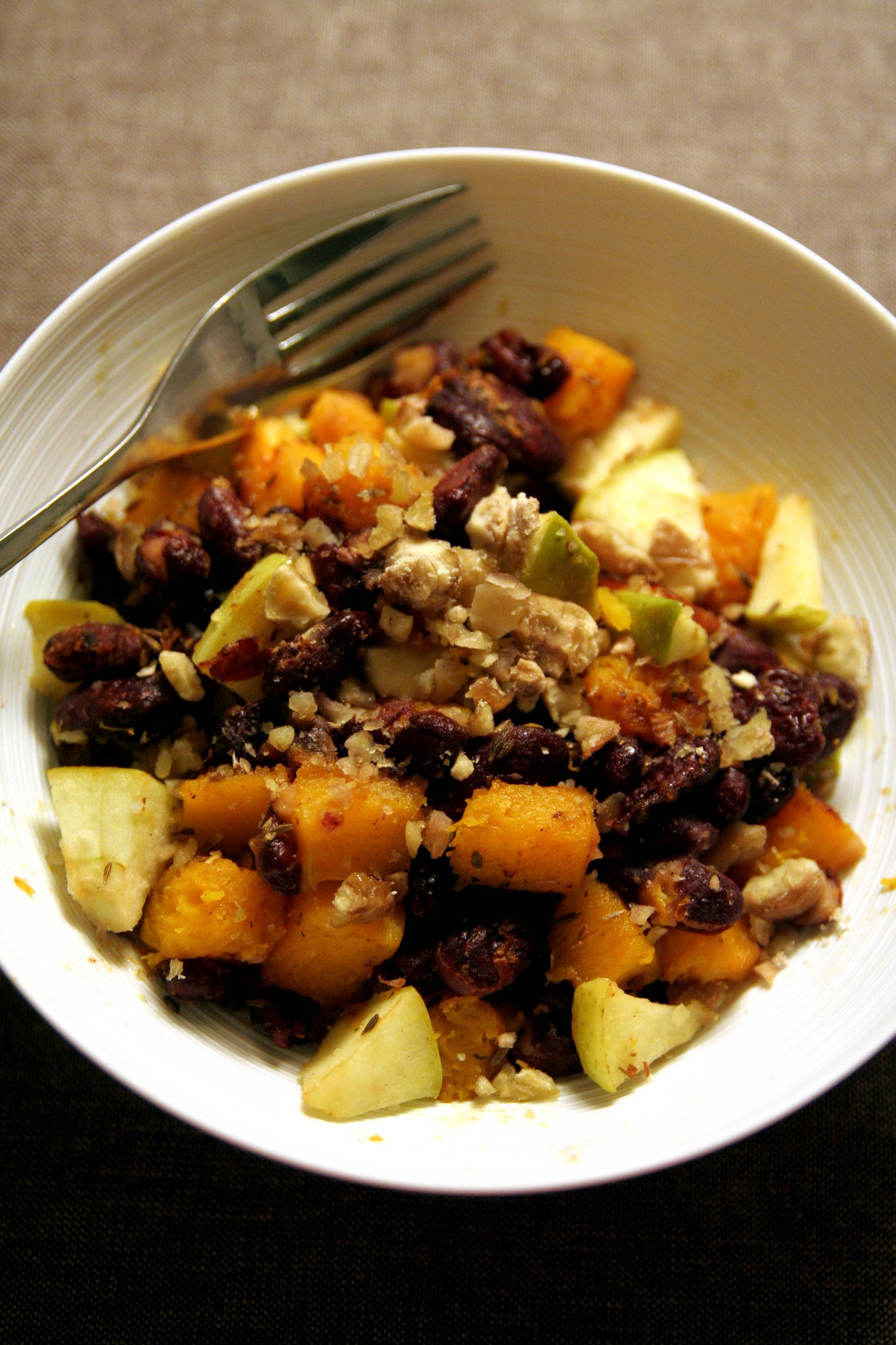 Courge butternut pomme marron et haricots rouges la cuisine de josie - Quand recolter les butternut ...