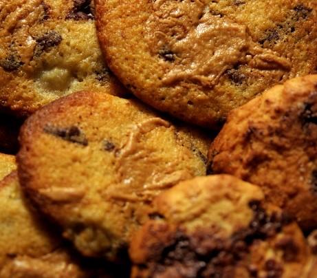 Cookies chocolat-banane-beurre de cacahuète