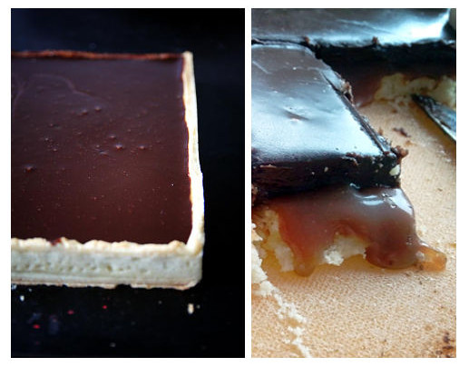 Tarte au chocolat et caramel beurre salé fondant