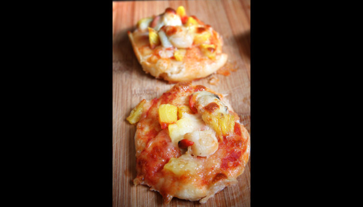 Mini-pizza hawaïenne de la mer