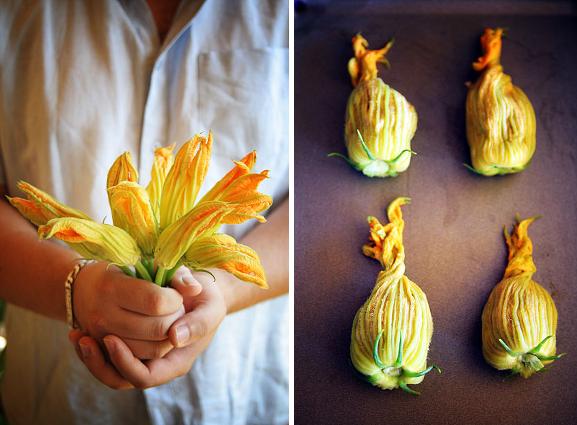 Fleurs de courgettes farcies la cuisine de josie - Fleurs de courgettes farcies ...