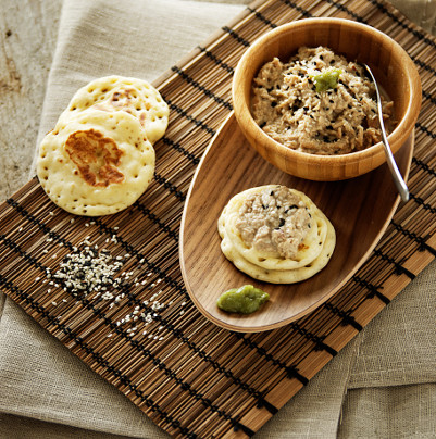 Rillettes de thon au wasabi et sésame