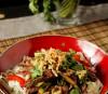 Boeuf mariné à la sauce Teriyaki et nouilles soba