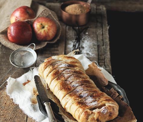Entre le strudel et la tarte aux pommes, à la vanille de madagascar et sucre non raffiné (de muscovado)