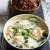Poissons au lait de coco, gingembre, citronnelle et riz rouge de Thaïlande