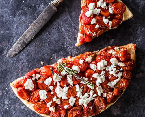 Tatin de tomates cerises et feta
