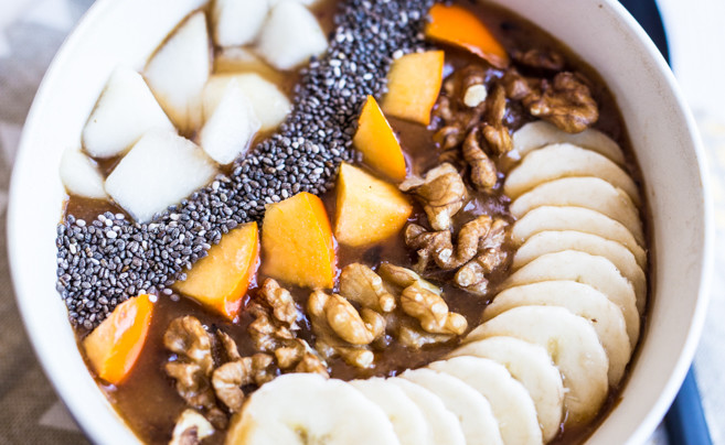 Smoothie bowl d'hiver