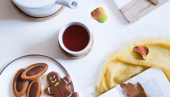 Barquettes au chocolat et praliné aux épices